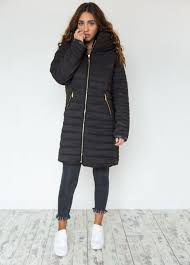 Move Mountains Long Padded Coat in Black - Fearlesss & Padded black coat Adamdwight.com