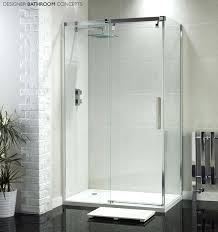 aqua glass shower door designer sliding enclosure from semi frameless