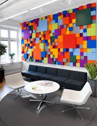 office art ideas. Unique Ideas Modern Stylish Office Wall Art Ideas Three Dimensional Look Poping Multiple  Color Many Decorative Plants Inside Office Art Ideas W