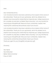 Thank You Letter For Scholarships Delectable 44 Thank You Letter Example Templates Free Premium Templates