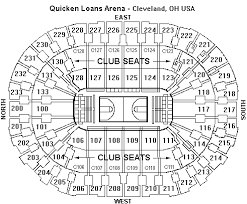 Quicken Loans Arena Seating Chart Cavaliers