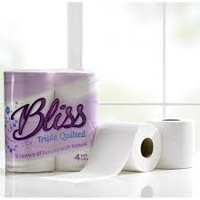 Bliss Triple Quilted Toilet Roll 3 Ply & Bliss Toilet Roll 3ply 10x4 Adamdwight.com