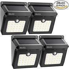 baxia technology solar lights outdoor wireless 28 led solar motion sensor lights waterproof security