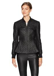bcbg max azria bcbgmaxazria women s charles knit quilted faux leather jacket s