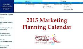 Marketing Planner Excel Marketing Plan Template Excel Calendar Monthly Printable Oneletter Co