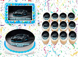 There isn't a single stat about the car that isn't crazy. Bugatti Cake Topper Edible Image Personalized Cupcakes Frosting Sugar Sheet 2 Cupcakes 12 Amazon Com Grocery Gourmet Food