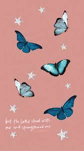 Aesthetic Blue Butterfly Wallpapers ...