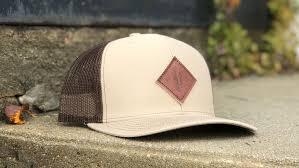 custom richardson leather patch hats