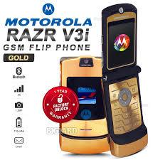 motorola flip phone. unlocked original motorola razr v3i 2.2 gold gsm 2g bluetooth camera mp3 flip phone (1 year warranty) motorola
