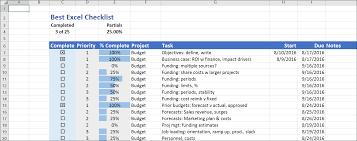 The Best Excel Checklist Critical To Success