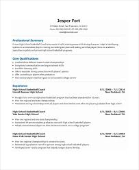 Basketball Coach Resume