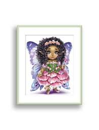 fairy wall art african american girls wall decor flower fairy print toddler girl wall art kids playroom decor little black girls room decor on little black girl wall art with princess wall art african american girl wall art brown skin girl