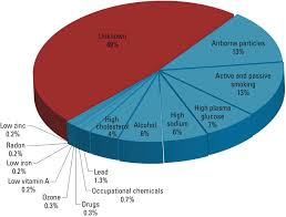 Blood Types In Human Populations Pie Chart Risk Factors For Exposures That Contribute To Chronic