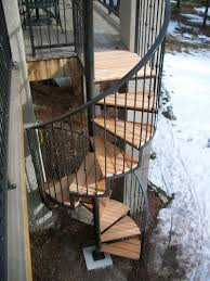 Outdoor Staircase magnificent outdoor decoration design ideas with spiral metal 1262 by xevi.us