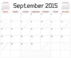 Un Calendario Planificador Mensual Para Septiembre De 2015 Sobre
