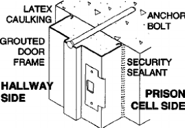 door jamb diagram. Grouted Door Frame Against Precast Concrete Wall Jamb Diagram