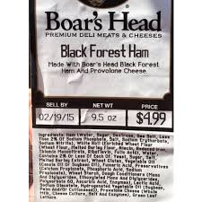 Calories In Black Forest Ham From Boars Head