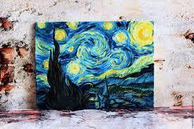 landscapes handmade livemaster handmade oil painting starry night van gogh
