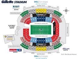 Disclosed Gillette Stadium Seating Chart Seat Numbers