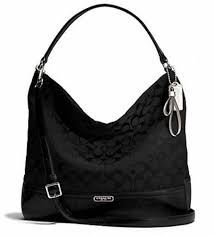 Coach Park Signature Hobo Black Shoulder Handbag Crossbody Purse F23279
