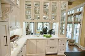 work glass into your kitchen cabinets