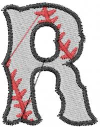 Sports Embroidery Design Baseball Letter R From Embroidery Patterns