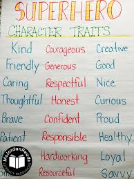 Character Traits Anchor Chart Superhero Character Trait Anchor Chart Msjordanreads