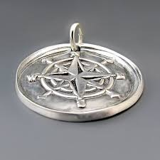 sterling silver compass charm 14 png