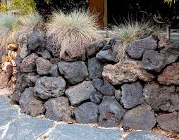 Small Picture lava rock retaining wall Google Search landscape Pinterest
