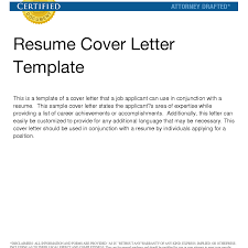 Extremely Ideas General Cover Letter For Resume 3 General Cover