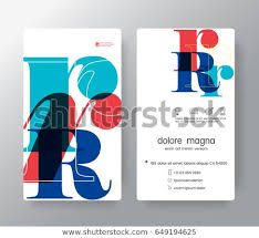 Name Card Enchanting Logo Number R Business Card Name Stock Vector Royalty Free