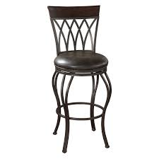 top 66 beautiful black metal swivel bar stool with round leather upholstered seat counter height and stools back furniture brown varnished oak wood frame