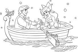 Disegni Da Colorare La Principessa Disney Ariel In Barca Disegni Da