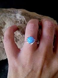 opal ring sterling silver ring birthday gift for her ball ring romantic
