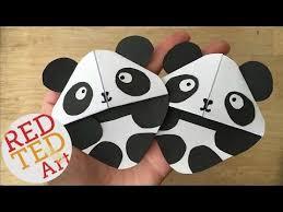 panda bear bookmark corner red ted art s more