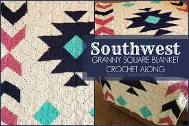 Granny Square Blanket Pattern Enchanting CAL Southwest Granny Square Blanket Crochet Pattern Part 48 Hooked