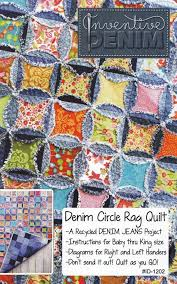 PATTERN- Denim Circle Rag Quilt pattern UPDATED (use your Recycled ... & PATTERN- Denim Circle Rag Quilt pattern UPDATED (use your Recycled Denim  Jeans) | Small Craft Advisory... I Can Make This! | Pinterest | Rag quilt  patterns, ... Adamdwight.com