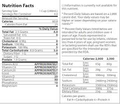 blue diamond almond breeze original almondmilk nutrition facts