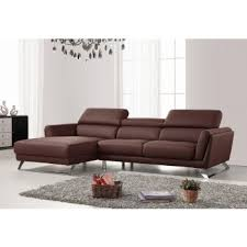 modern sofas and chairs. Divani Casa Doss Modern Brown Eco-Leather Sectional Sofa Sofas And Chairs