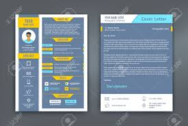 Resume And Cover Letter Or Cv Template Flat And Material Design