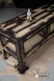 check out my 80 pottery barn inspired console table distressed paintingdistressed furniture paintingblack distressed furnituredistressing painted