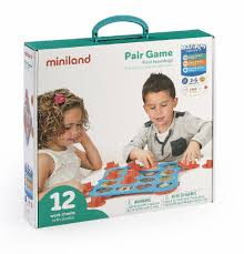 <b>MINILAND Игра</b> обучающая с парными картинками (12 карточек ...