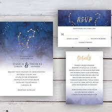 Stars Invitation Template Written In The Stars Invitation Rsvp Details Card Printable Templates Wedding Invitation Starry Sky Star Signs Aries Aquarius Gold