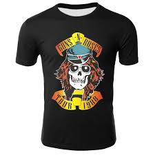<b>YELITE</b> Famous Rock Band Guns N Roses <b>Men's Tshirt</b> Hip Hop ...