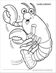 Small Picture lobster coloring page for kids 2 Graphics Appliques Clip Art