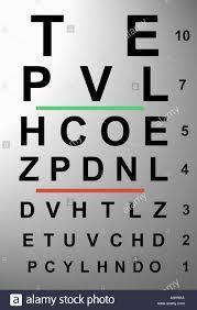 Close Up Of An Eye Chart Stock Photo 5713001 Alamy