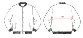 Varsity Jacket Size Chart Sizechart Jackets Orangebox Corporate Services