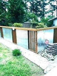 corrugated metal fence panels privacy simple sheet diy making out of pallets