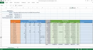 Project Excel Template Construction Project Cost Control Excel Template Workpack