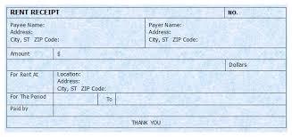 Rent Receipt Form Monthly Rent Receipt Form Sample Of House Rental Violeet